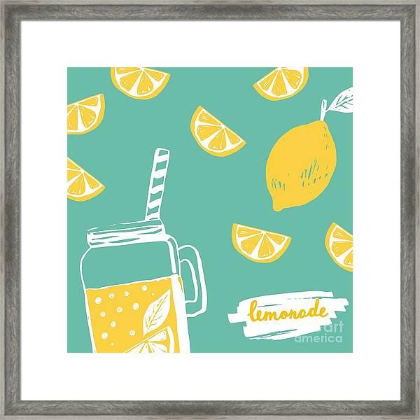 Hand Drawn Lemonade Framed Print
