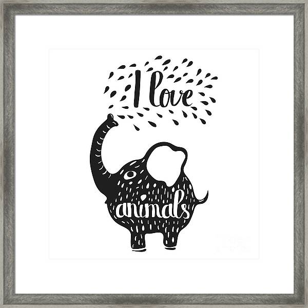 Hand Drawn Lettering Typography Poster Framed Print