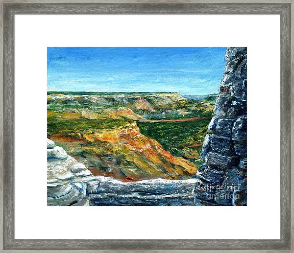 Hand Painted Palo Duro Texas Landscape Framed Print