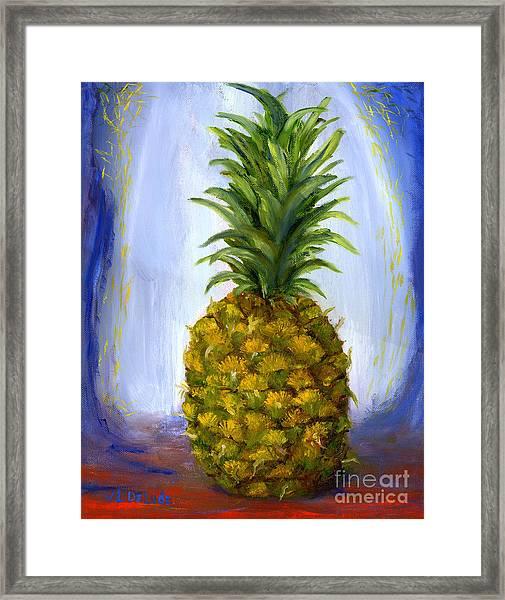 Hand Painted Pineapple Fruit  Framed Print