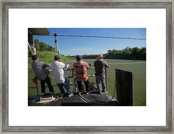 Hand-powered Ferry Framed Print