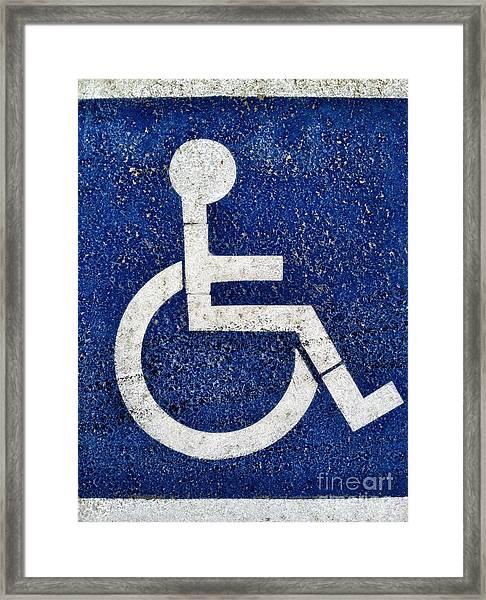 Handicapped Symbol Framed Print