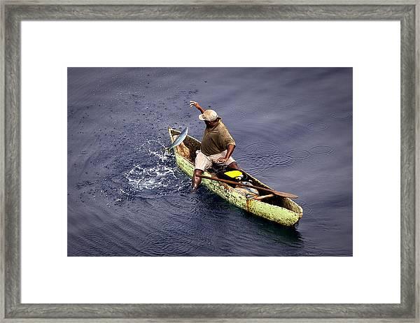 Handline Fisherman Framed Print