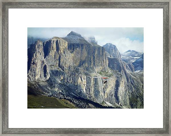 Hang Glider In The Dolomites Framed Print