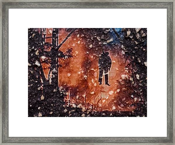 Hang Man In Stone Framed Print