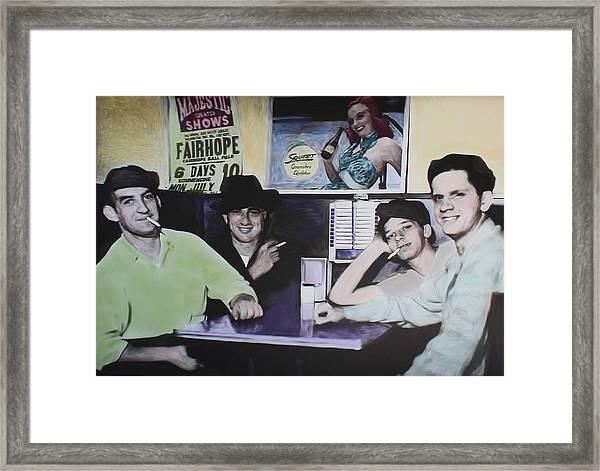 Hanging At The Diner 1949 Framed Print