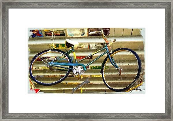 Hanging Bike Framed Print