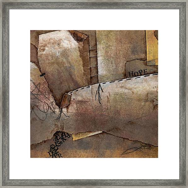 Hanging By A Thread Framed Print