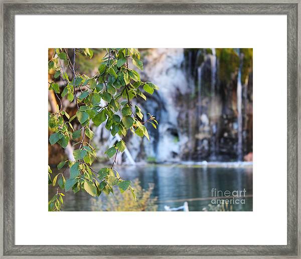 Hanging Lake 8x10 Crop Framed Print