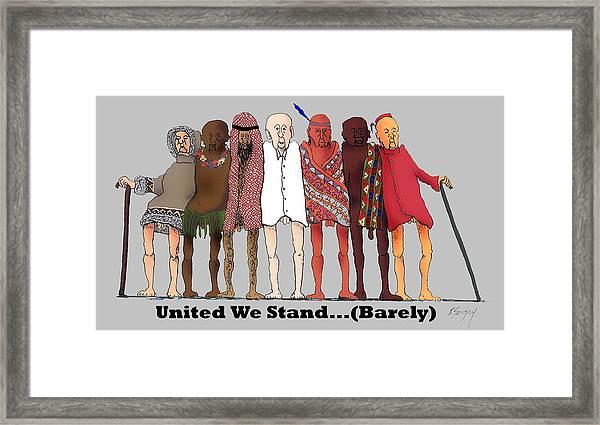 Nous Sommes Charlie Framed Print