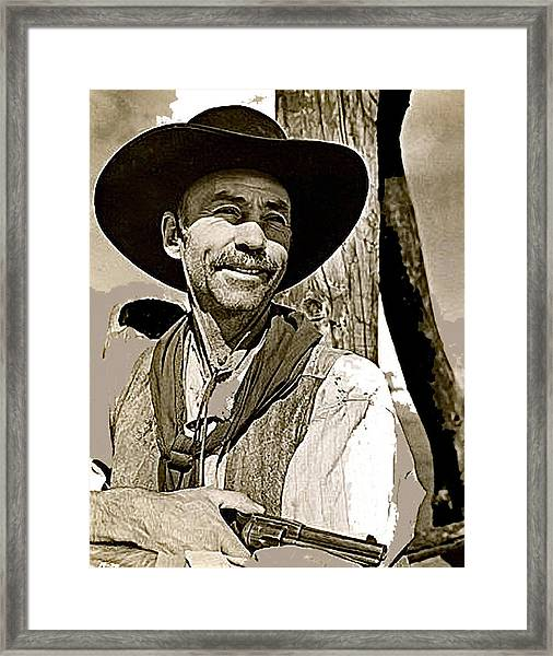 Hank Worden Publicity Photo Red River 1948-2013 Framed Print