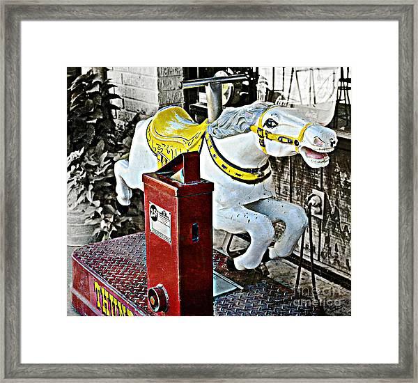 Hannibal Mechanical Riding Horse Framed Print