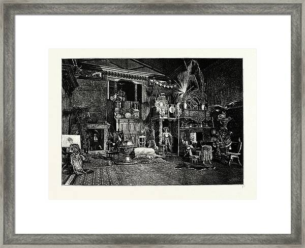 Hans Makarts Studio Framed Print by Austrian School