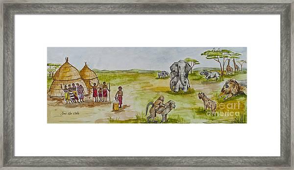 Happy Africa Framed Print