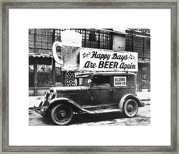 Happy Days Are Beer Again Framed Print