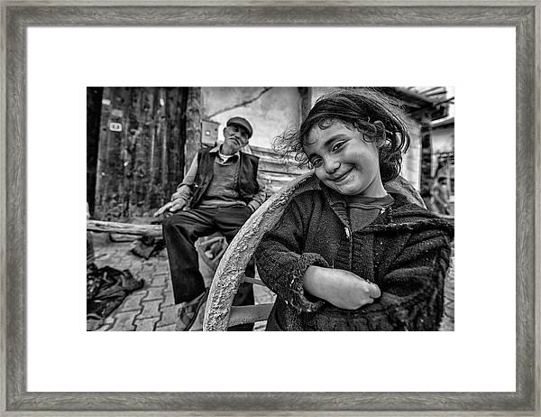 Happy Eyes Framed Print