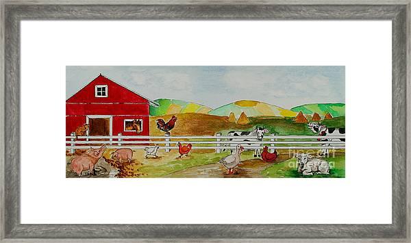 Happy Farm Framed Print