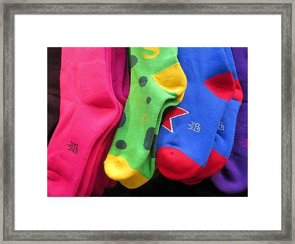 Wear Loud Socks Framed Print