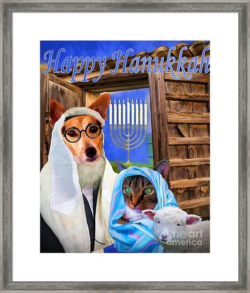 Happy Hanukkah  - 2 Framed Print
