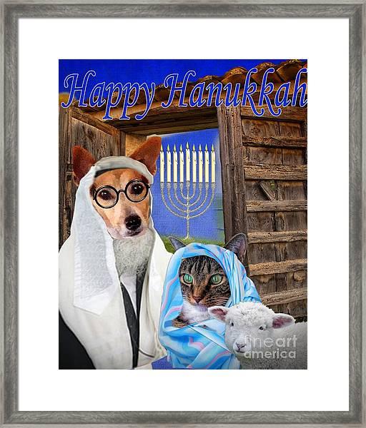 Happy Hanukkah -1 Framed Print