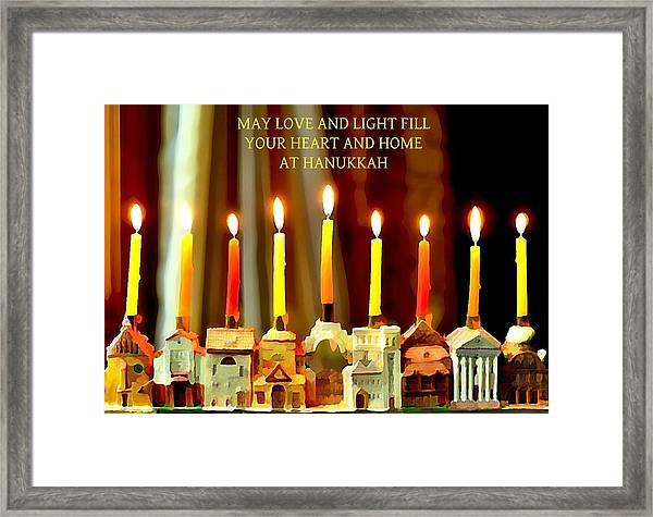 Happy Hanukkah 5 Framed Print
