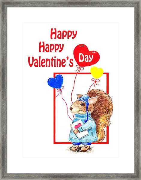 Happy Happy Valentines Day Framed Print