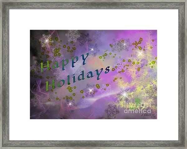 Happy Holidays Card Framed Print by Judy Filarecki