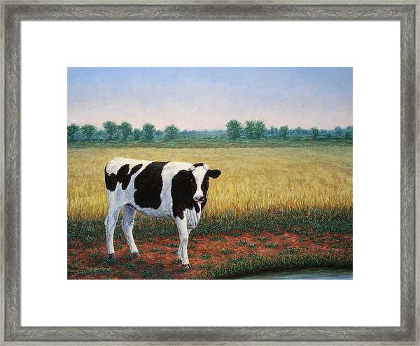Happy Holstein Framed Print