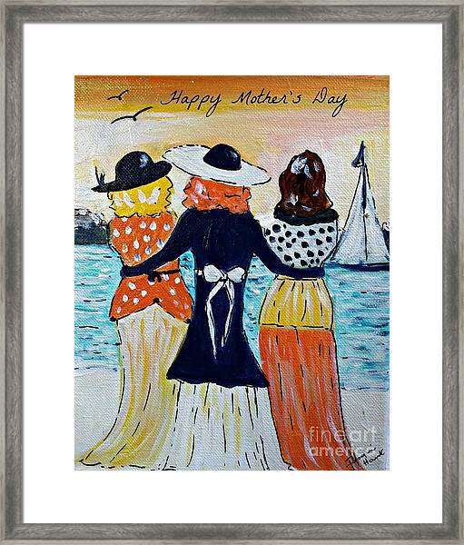 Happy Mother's Day Greeting Card Framed Print