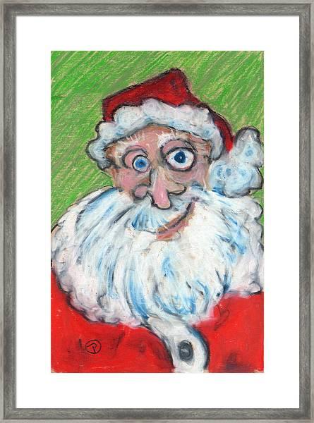 happy Santa Framed Print