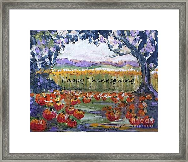 Happy Thanksgiving Greeting Card Framed Print