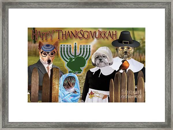 Happy Thanksgivukkah -1 Framed Print