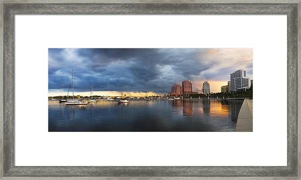 Harbor At West Palm Beach Framed Print