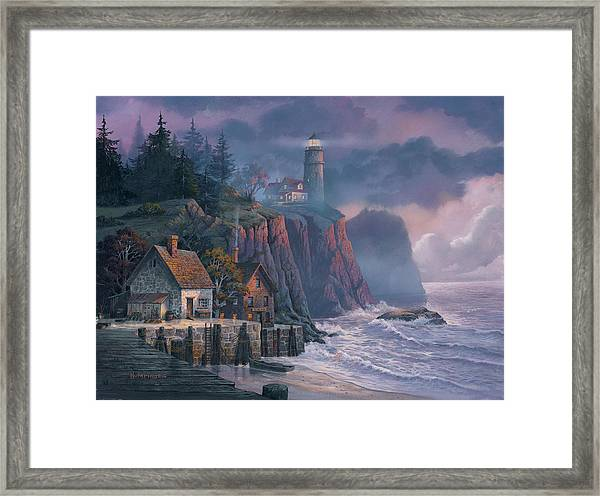 Harbor Light Hideaway Framed Print