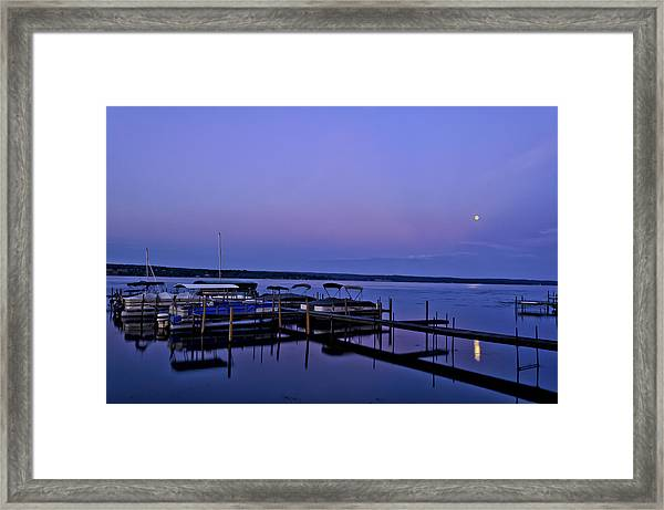 Harbor Night Framed Print