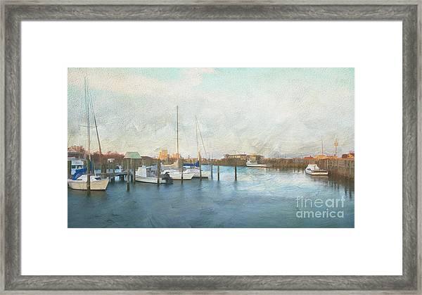 Harbor Morning Framed Print
