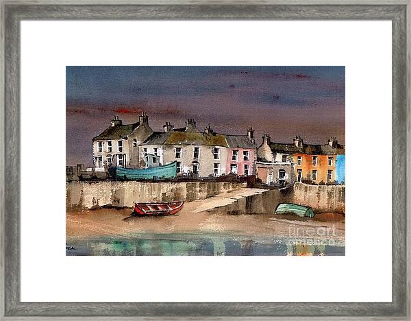 Harbour Dusk Greystones Wicklow Framed Print