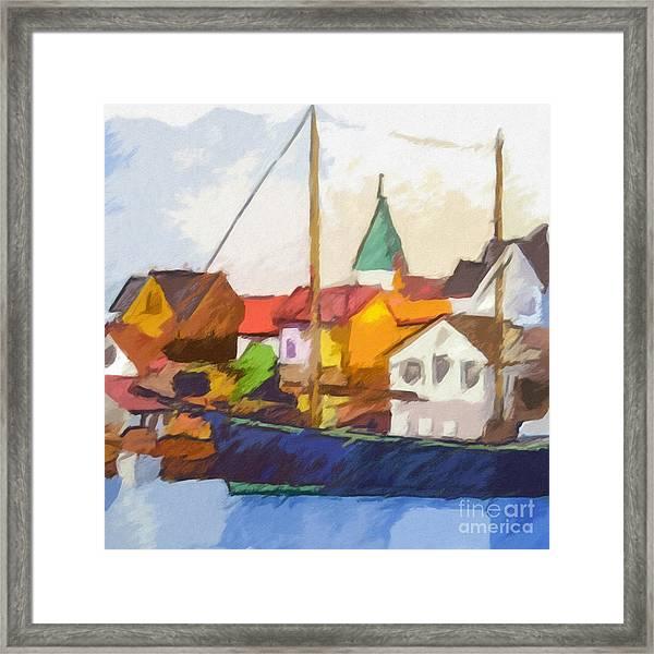 Harbour Seascape Framed Print