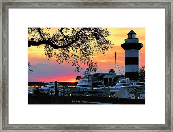 Harbour Town Sundown Framed Print