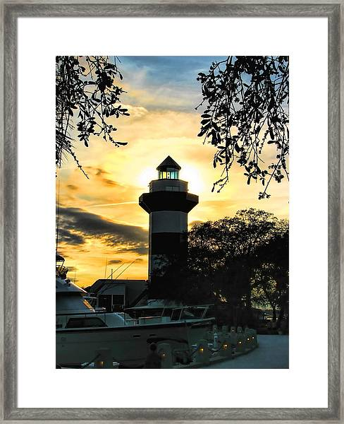 Harbour Town Lighthouse Beacon Framed Print