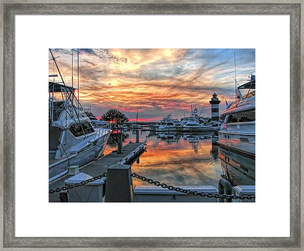 Harbour Town Yacht Basin Framed Print