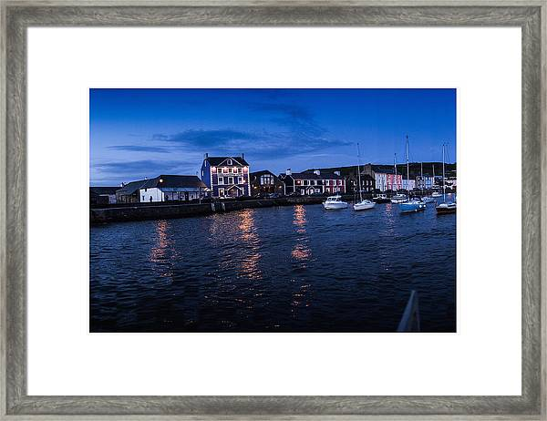 Harbourmaster Hotel Aberaeron At Dusk Framed Print