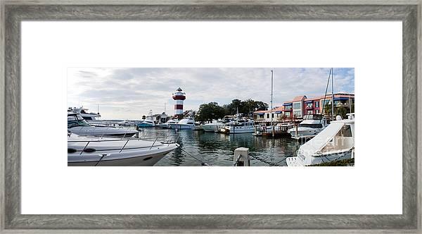 Harbourtown Harbor Framed Print