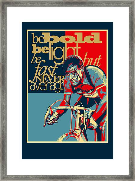 Hard As Nails Vintage Cycling Poster Framed Print