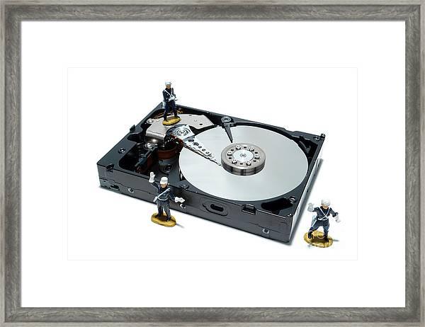 Hard Drive Security Framed Print