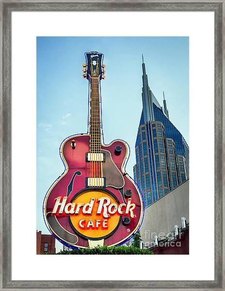 Hard Rock Cafe Nashville Framed Print