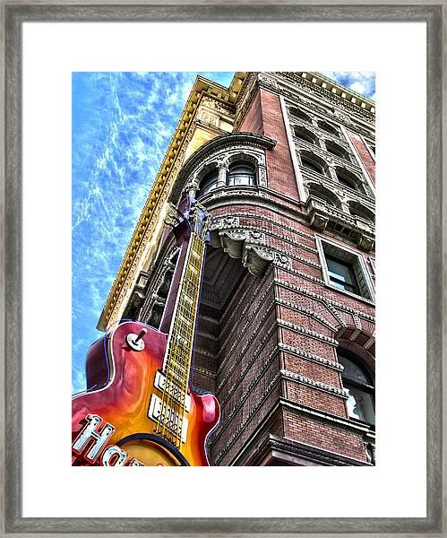 Hard Rock Phila Framed Print by Frank Savarese