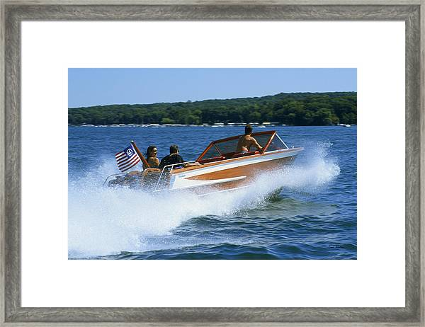 Hard Turn - Lake Geneva Wisconsin Framed Print