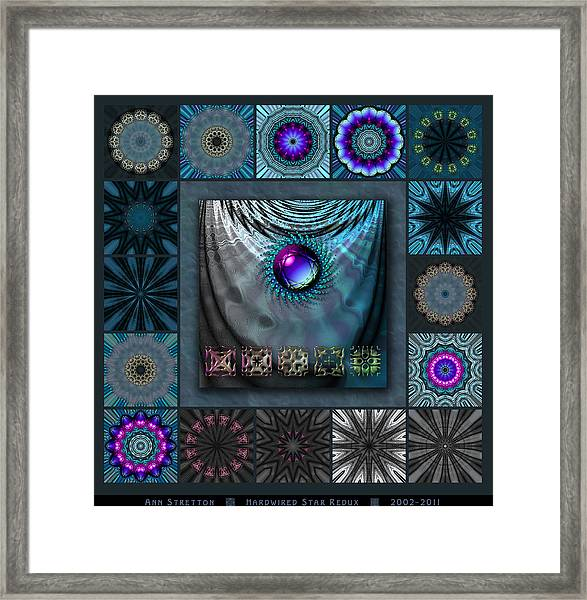 Hardwired Star Redux Framed Print