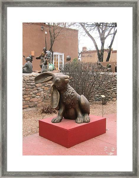 Hare In Santa Fe Framed Print